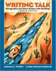 Anthony C. Winkler: Writing Talk: Paragraphs and Short Essays with Readings (4th Edition)