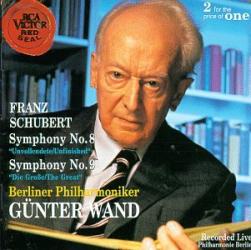 """Schubert - Symphonie n°8 en si mineur, """" Inachevée """" / Symphonie n°9 en ut majeur, """" La Grande """": G. Wänd - Philarmonique de Berlin"""