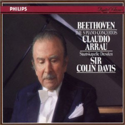 Beethoven - Les cinq concertos pour piano: Claudio Arrau - Colin Davis - Staatskapelle de Dresde