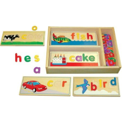 : Deluxe Wooden See and Spell