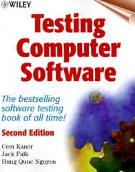Cem Kaner: Testing Computer Software, 2nd Edition