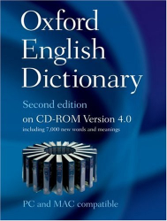: The Oxford English Dictionary 2nd ed, CD-ROM v 4.0