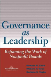 Richard P./ Ryan, William P./ Taylor, Barbara E. Chait: Governance As Leadership