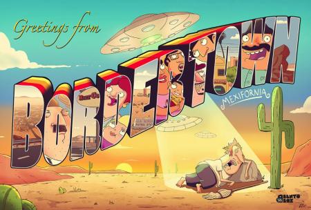 Bordertown Postcard