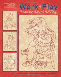 dolores storm: work & play, redwork through the day