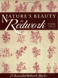 debra feece: nature's beauty in redwork