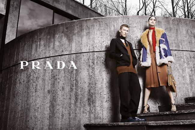 CAMPAIGN Karl Kolbitz & Mica for Prada Fall 2014 by Steven Meisel. www.imageamplified.com, Image Amplified