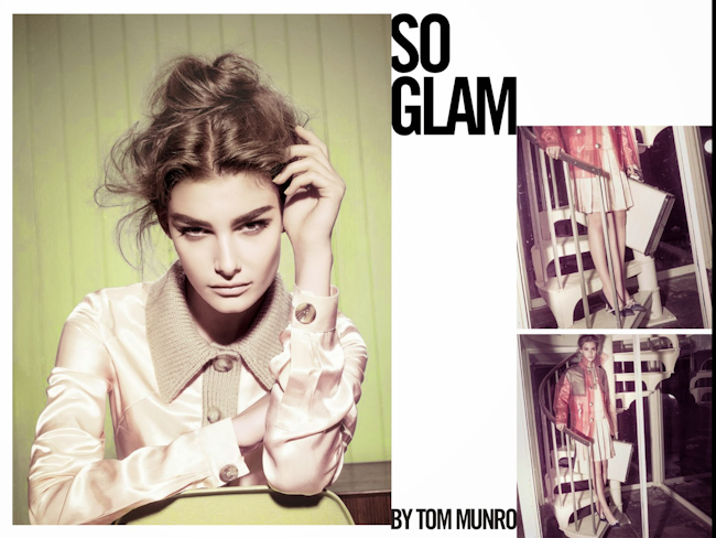 VOGUE ITALIA Ophelie Guillermand, Lisa Verberght & Clement Chabernaud in So Glam by Tom Munro. Patti Wilson, July 2014, www.imageamplified.com, Image Amplified