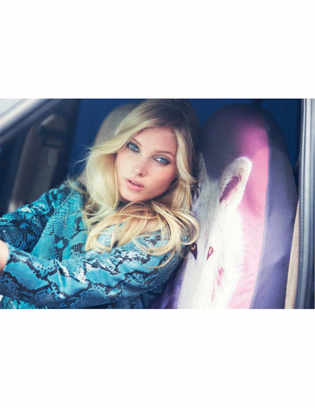 MARIE CLAIRE ITALIA Elsa Hosk in Candy Color by David Bellemere. Elisabetta Massari, September 2014, www.imageamplified.com, Image Amplified