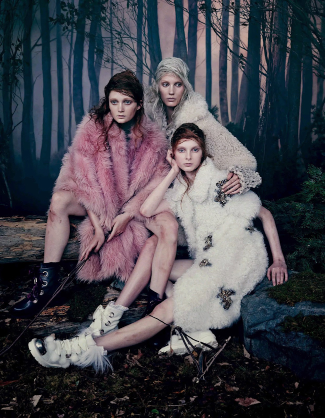 VOGUE JAPAN Into The Woods by Emma Summerton. Giovanna Battaglia, October 2014, www.imageamplified.com, Image Amplified