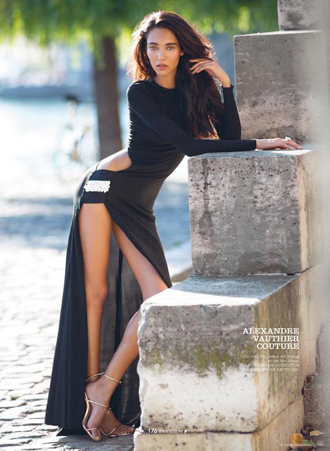 ELLE VIETNAM Daniela De Jesus in Modern Couture by Benjamin Kanarek. Frederique Renaut, October 2014, www.imageamplified.com, Image Amplified