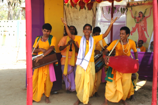 Fig 1. Rarh kirtan team, India