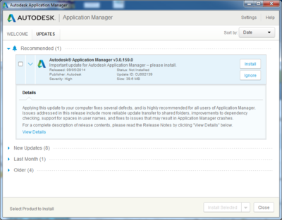 Application Manager Update