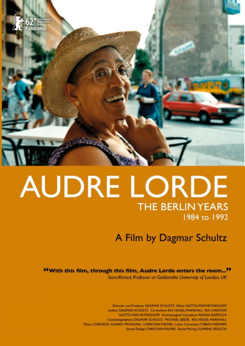 Audre Lorde The Berlin Years DVD : Audre Lorde's incisive, often-angry, but always brilliant writings and speeches defined and inspired the US-American feminist, lesbian, African-American, and Women-of-Color movements of the 1970s and 1980s. Audre Lorde, the Berlin Years 1984 to 1992, documents an untold chapter of Lorde's life: her influence on the German political and cultural scene during a decade of profound social change. The film explores the importance of Lorde's legacy, as she encouraged Afro-Germans -- who, at that time, had no name or space for themselves -- to make themselves visible within a culture that until then had kept them isolated and silent. It chronicles Lorde's empowerment of Afro-German women to write and to publish, as she challenged white women to acknowledge the significance of their white privilege and to deal with difference in constructive ways. Previously unreleased archive material as well as present-day interviews explore the lasting influence of Lorde's ideas on Germany and the impact of her work and personality. For the first time, Dagmar Schultz's personal archival video- and audio-recordings reveal a significant part of the private Audre Lorde as well as her agenda -- to rouse Afro-Germans to recognize each other. 2012 marks the 20-year anniversary of Audre Lorde's passing.