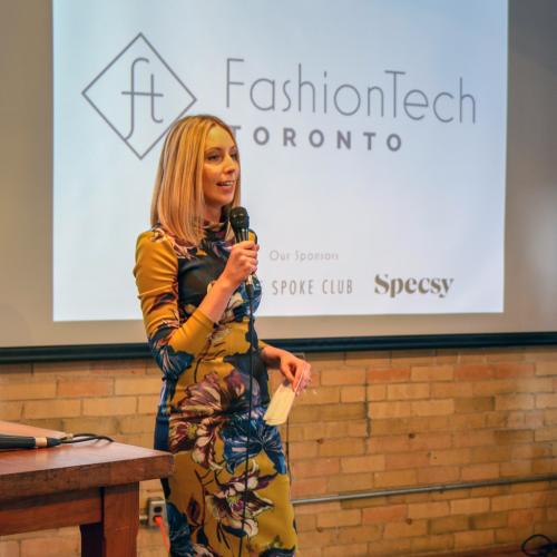 Ashley Barby founder of FashionTech Toronto