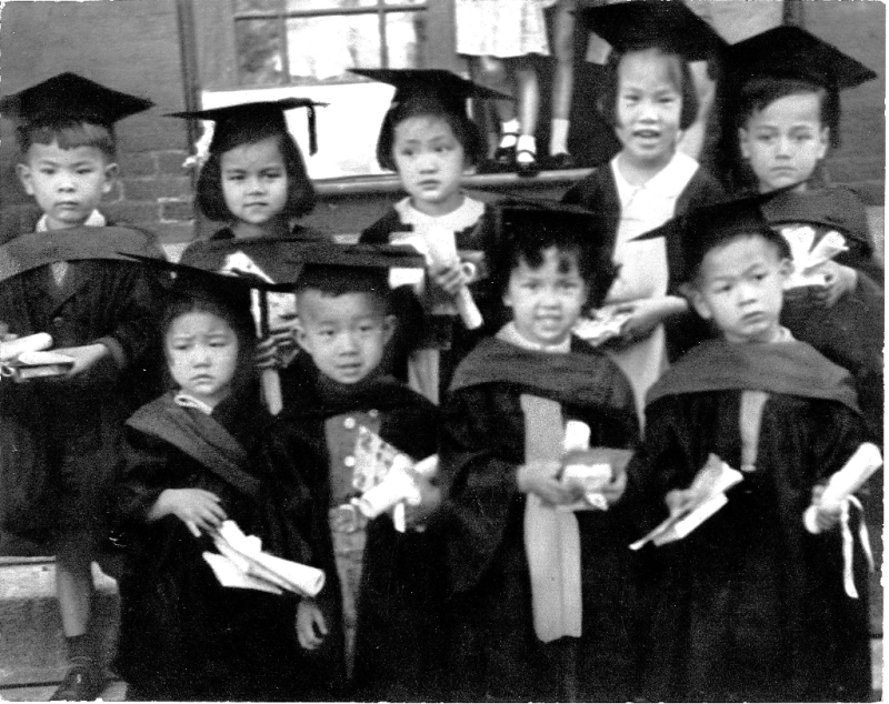 1945 CCI pre-school graduation on University Ave
