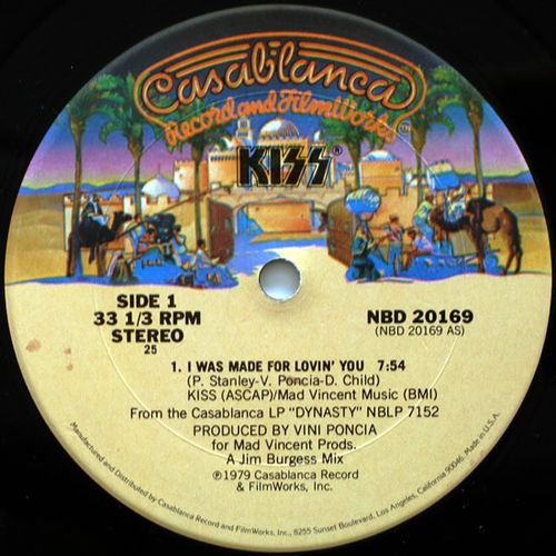KISS - I Was Made For Lovin' You (Maxi Single 12'')