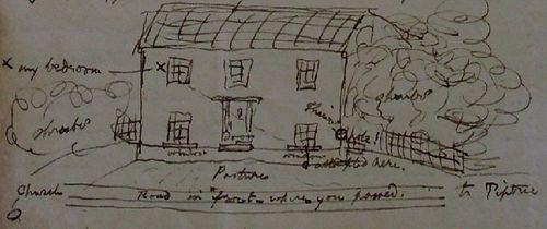Sketch of Clark's home