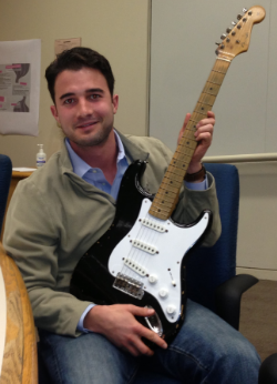 Bo with Eric Clapton's Blackie guitar