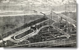 Canadian National Exhibition fairgrounds, engraving
