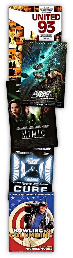 """Se trabajó la geometría con películas como """"Cube"""", las capas de la tierra con """"Viaje al Centro de la Tierra"""", la historia contemporánea con """"United 93"""" o """"Bowling for Columbine"""", la evolución de las especies y las características de los insectos con """"Mimic"""" ..."""