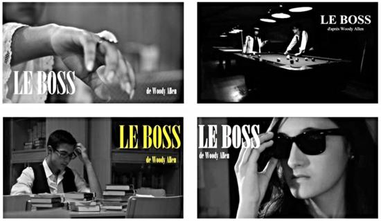 Fotogramas del Cortometraje 'Le Boss' : Antonio Galán y Ángel Toledo