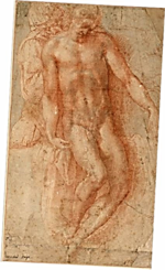 Pietà, (c. 1530-1536) por Michelangelo Buonarroti Albertina, Vienna