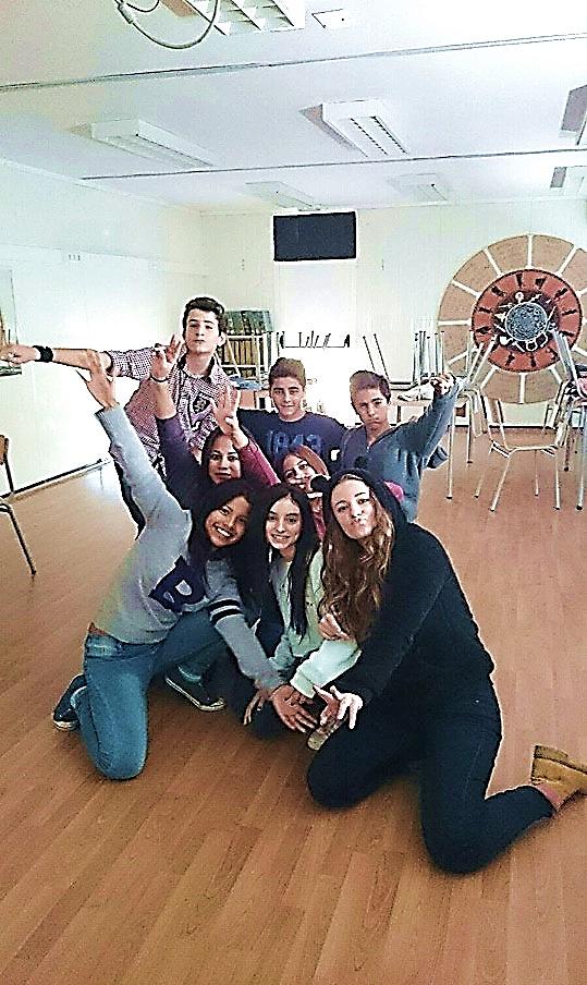 Estudiantes de Educación Secundaria Obligatoria del Instituto de Sils / Fondo fotográfico del Instituto de Sils