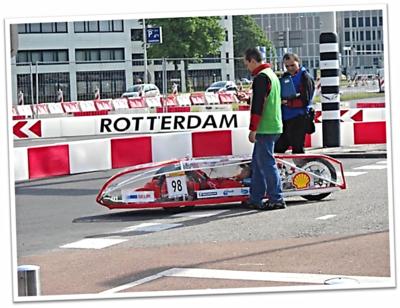 Vehículo 'Lince 2.0' en Rotterdam a punto de salir a pista