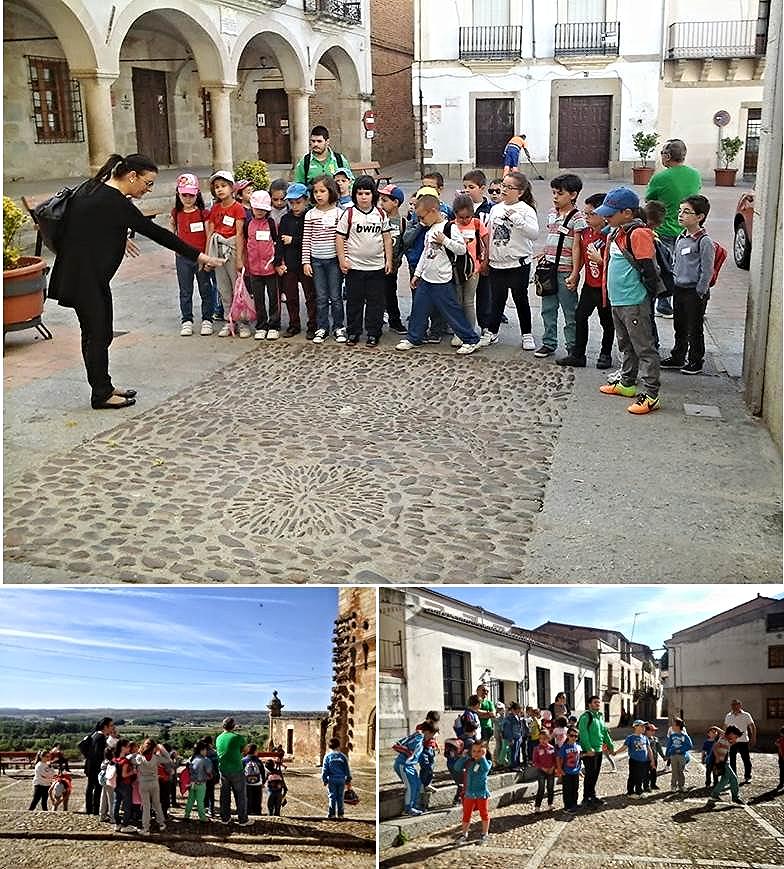 Alumnos y alumnas de primer curso 'encuentados' de visitar el Casco Antiguo de la Ciudad de Coria