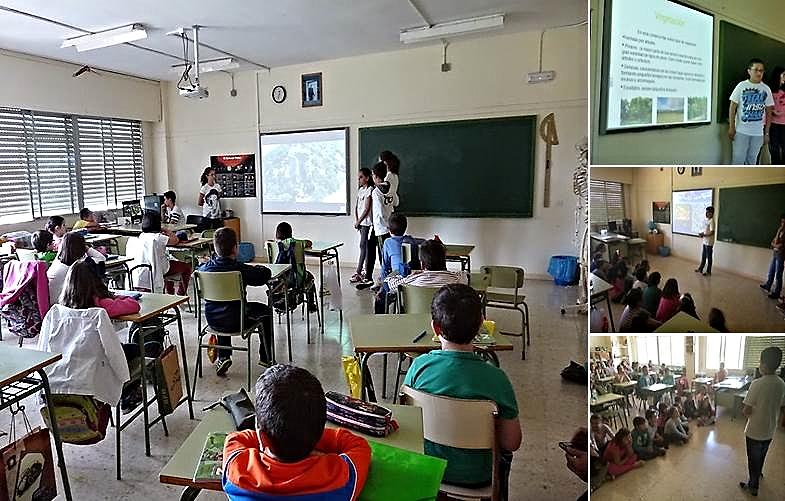 Presentaciones de estudiantes del grupo de 6º B sobre Comarcas extremeñas