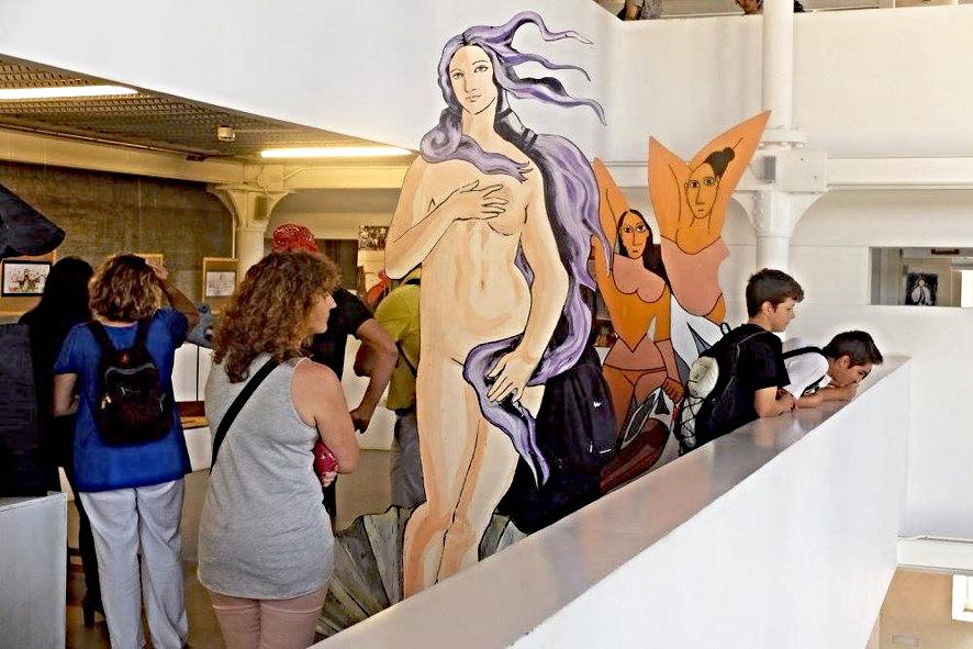Detalle de las creaciones escolares II Bienal Arte y Escuela de la Axarquía. Proyectos y piezas expuestas, Dibujo-IEDA Portfolio, en Pinterest