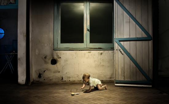 1 -Sin título, 80 x 49 cm, 2011, Era de noche