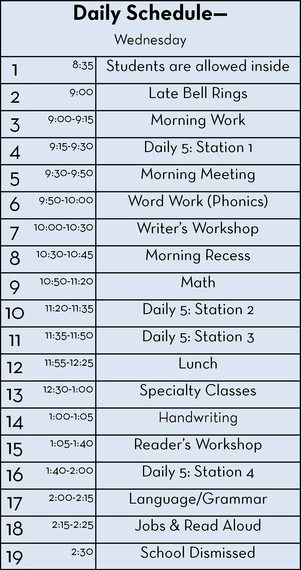 A Day in the Life: My 2nd Grade Schedule Part 2 - Second Story Window