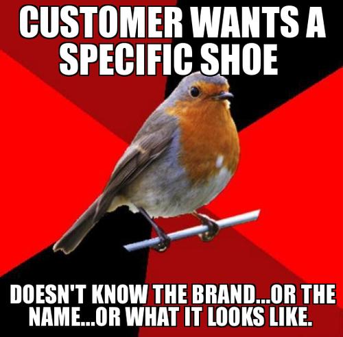 Retail robin shoe