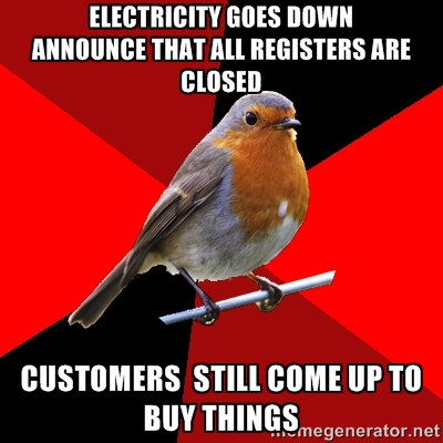 Retail robin power outage
