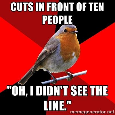 Retail robin line jumper