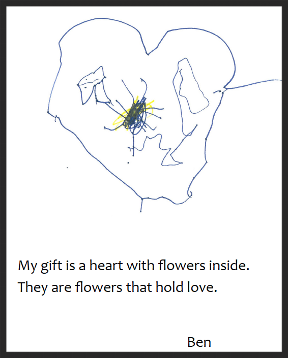A heart with flowers inside