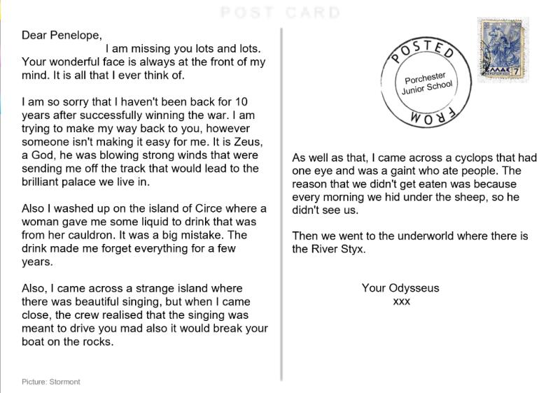 Ada's postcard from Odysseus