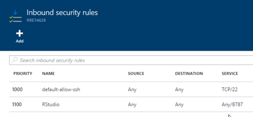 Inbound-security-rule