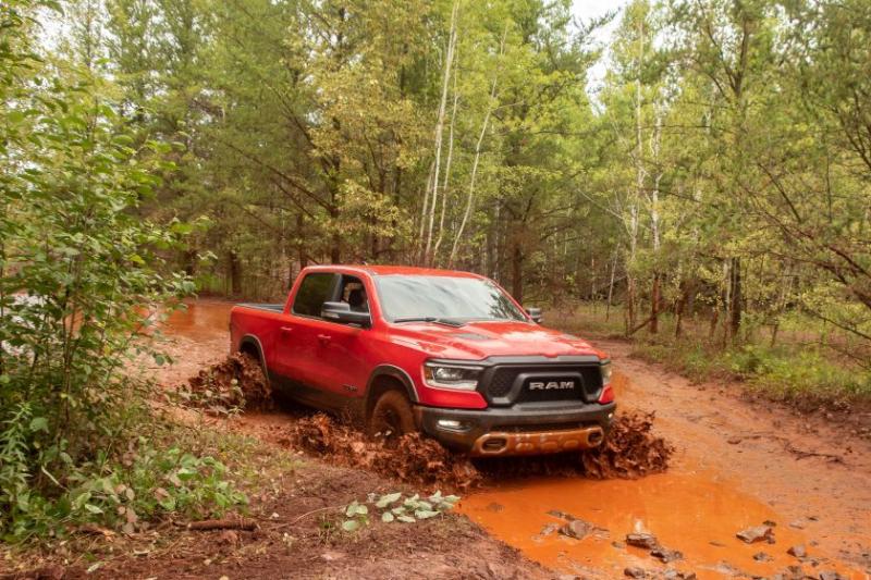 2020 Ram 1500 EcoDiesel Off-Road in Mud