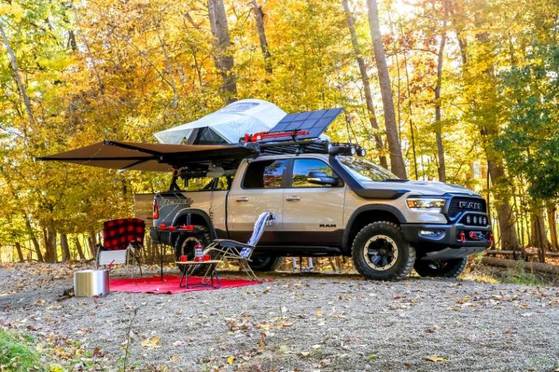 2020 Ram 1500 Rebel OTG Concept Camping Setup