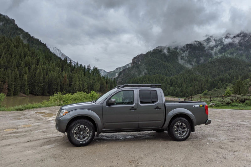 2020 Nissan Frontier Side Profile in Mountains