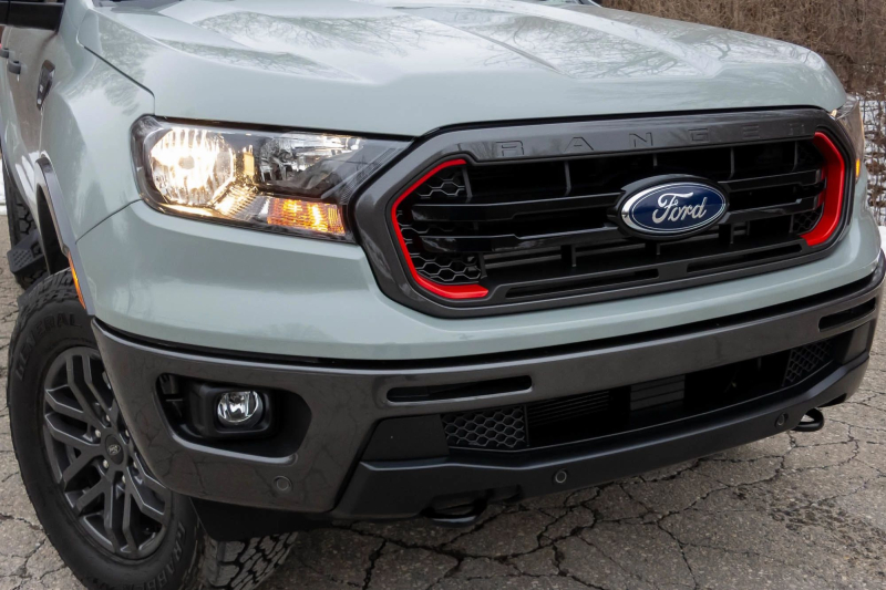 2021 Ford Ranger Tremor Grille and Front Bumper