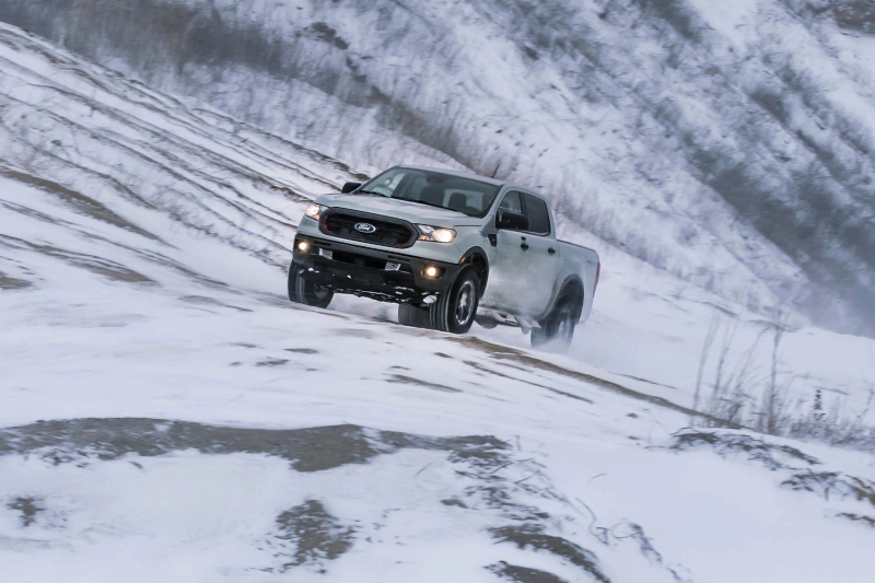 2021 Ford Ranger Tremor in the Snow