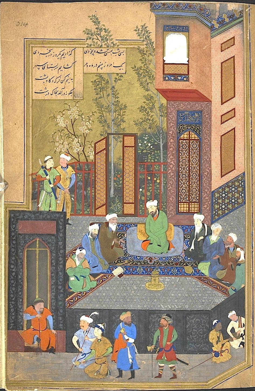 Kamal al-din Bihzad, Alexander the Great and the seven sages, in Khamsa of Nizami, 900-1494/85, British Library, London, UK.