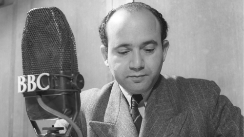 Ahmad Kamal Suroor delivering the first ever BBC Arabic broadcast, 3rd January 1938. Copyright BBC