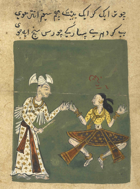 The third type of the ād-sanj position (British Library Or.12857, f. 171r)
