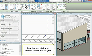 BIM instructional video published by Kawneer