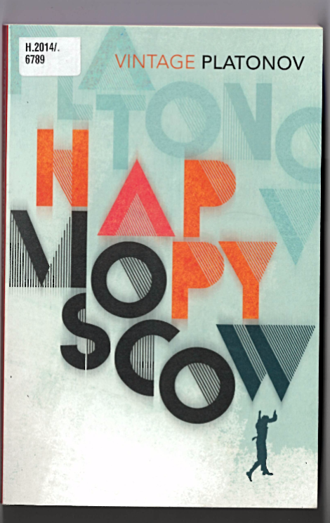 Cover of Platonov's 'Happy Moscow'